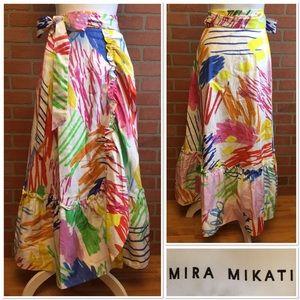 Mira Mikati colorful ruffled wrap skirt 4 (UU33)